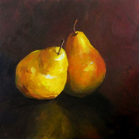 a pair of pears by meg page a pair of pears paper print of an original painting by cari