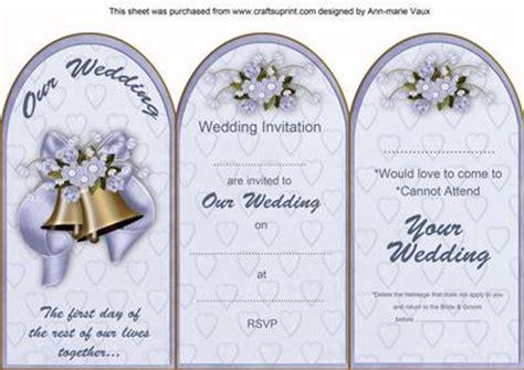 blue wedding bells wedding invitation rsvp tri fold card cup390241 10 craftsuprint