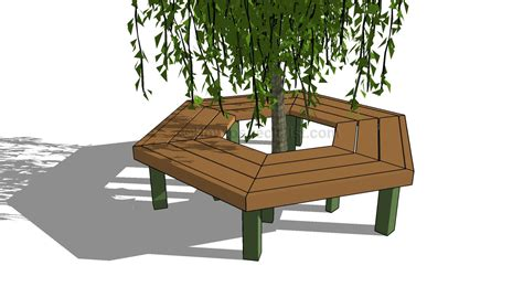 diy tree bench how to build a tree bench howtospecialist how to build
