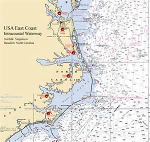 florida intercoastal waterway map east coast intracoastal waterway map images