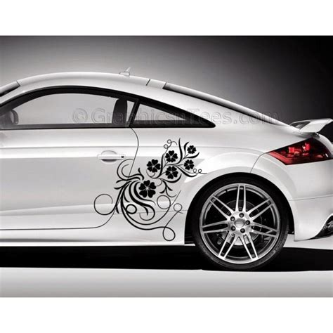 stickers for cars audi tt car sticker side decal flower car sticker girly