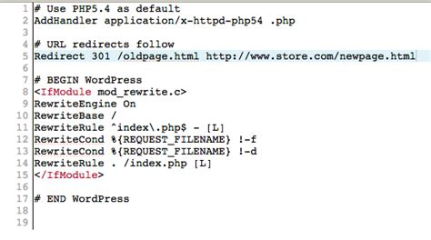 format htaccess file redirects for ecommerce when and how to use them