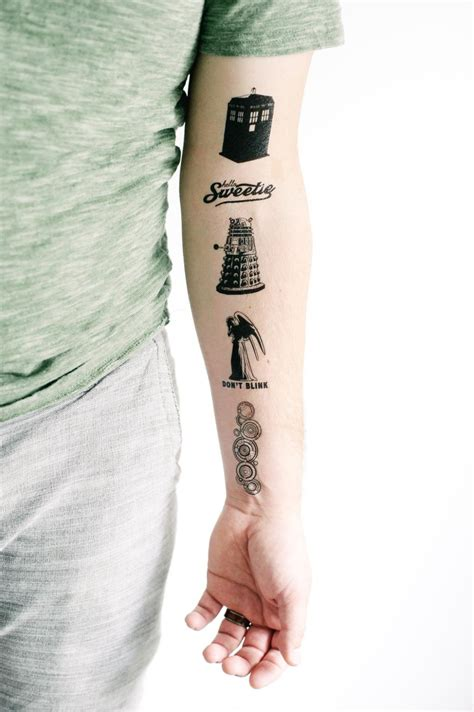 can doctors have tattoos 5 doctor who temporary tattoos smashtat