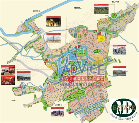 f map bahria enclave new map m b estate