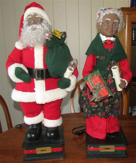 holiday creations motion animated santa  claus black african american christmas