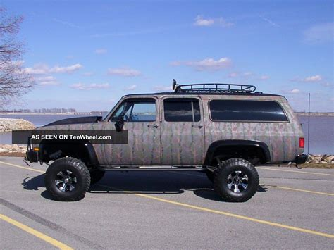chevrolet suburban lifted 1986 chevy silverado suburban 4x4 lifted camo monster truck