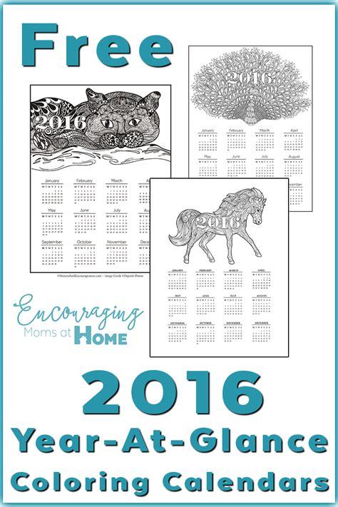 At A Glance Calendar 2016 Year At A Glance Calendar Template Calendar Template