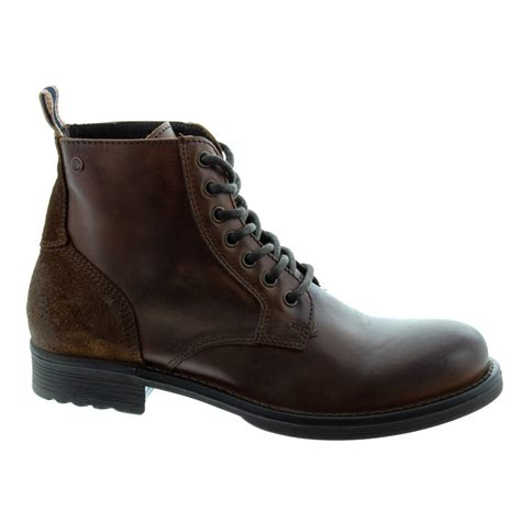 jones mens sting lace boots in brown in brown