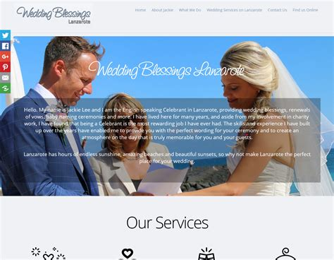Wedding Blessing At Home by Home Wedding Blessings Lanzarote