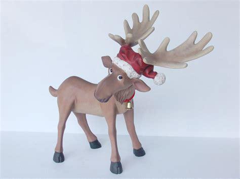 fiberglass 12 reindeer statues