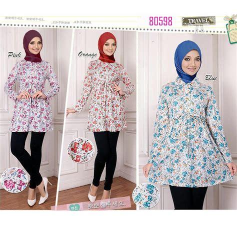 Atasan Wanita Tunic Baju Muslimah Baju Atasan Wanita Marok jual atasan wanita busui tali pinggang blus muslim baju blouse muslimah nayla collections