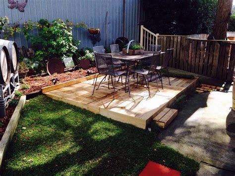 diy backyard deck ideas build a wood pallet deck diy