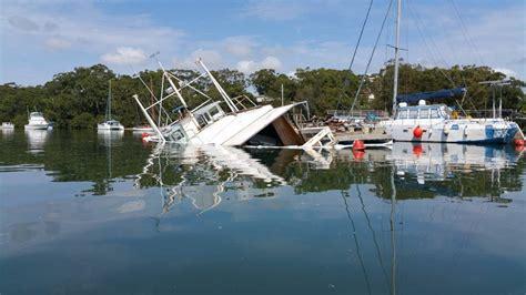 sinking boat florida sinking boat at lemon tree passage photos port