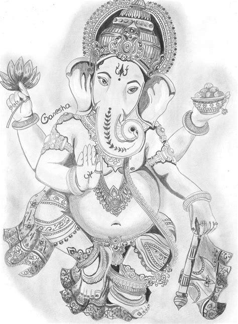 Ganesh Ji Sketches by Ganesha By Yourslucifer