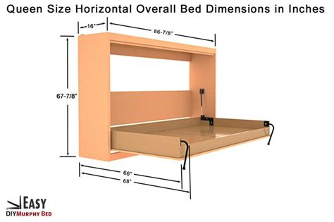 Murphy Bed Queen Hardware Kampa Easy Horizontal Murphy Bed Hardware Kit For Queen