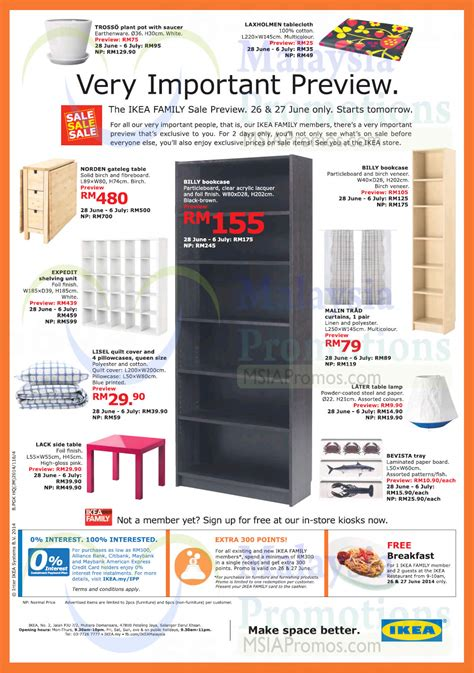 upcoming ikea sales ikea sale 28 jun 6 jul 2014