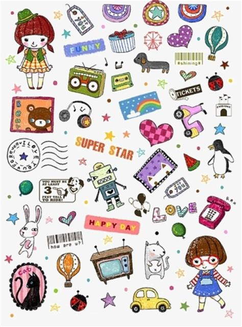 printable korean stickers korea creative cute sticker st promotional labels