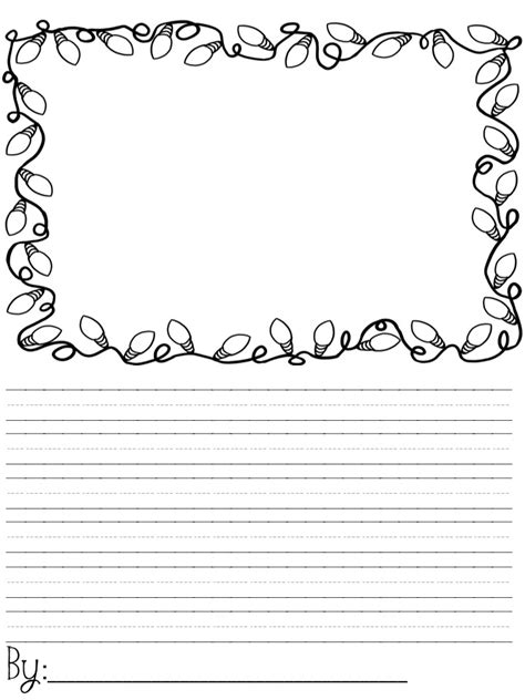 printable winter writing paper lined free printable christmas writing paper elementary frogs