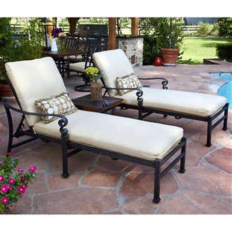 sunbrella chaise lounge cushions costco meridian 3 piece patio chaise lounge set