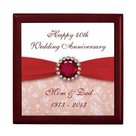 damask 40th wedding anniversary gift box damask 40th wedding anniversary gifts