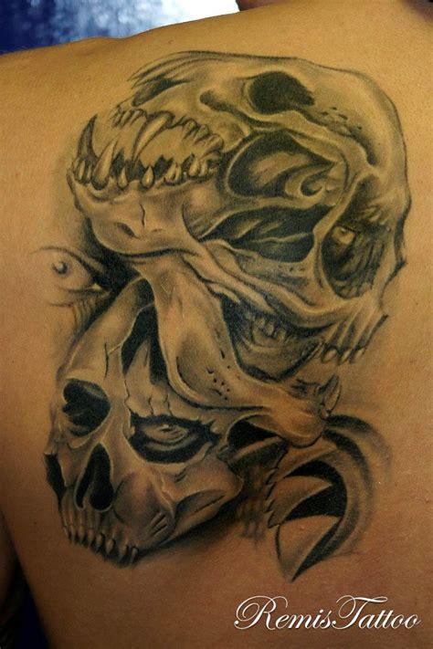black and grey demon tattoos black grey tattoostattoovoorbeeld bow wow tattoos