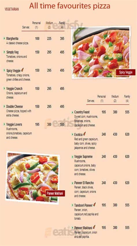 pizza hut menu online menu for pizza hut banjara hills