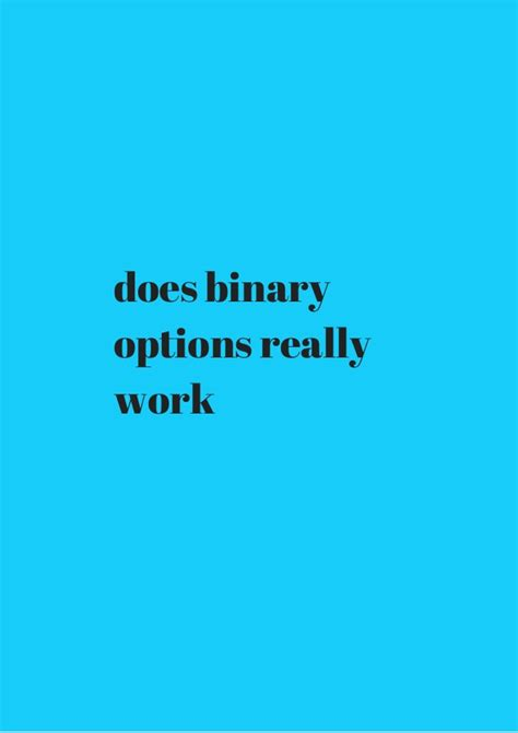does binary options really work coupon code