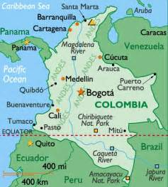 map of colombia in south america colombia the best countries of south america