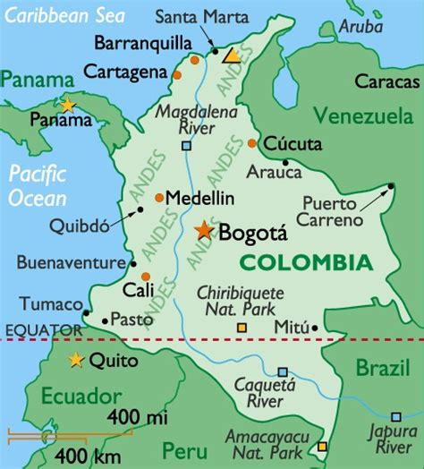 map of columbia colombia the best countries of south america