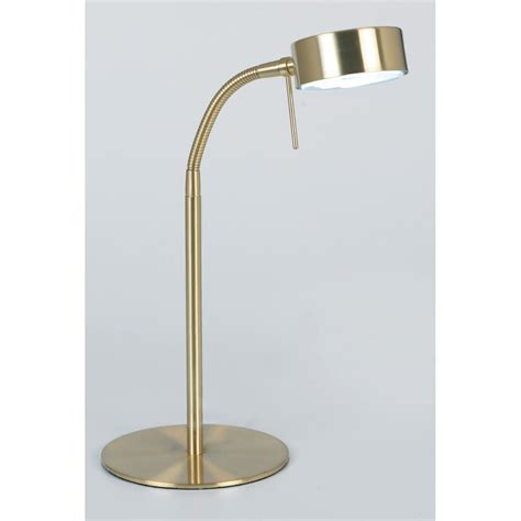 Modern Desk Light 102 Tlsb Modern Desk L In Satin Brass Finish Desk Ls From Mail Order Lighting Uk