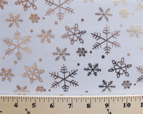 printable organza fabric flocked metallic snowflakes white print organza fabric by