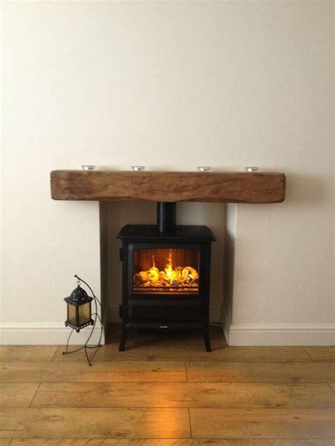 oak beam fireplace mantel reclaimed lintel rustic floating