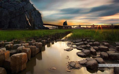 stones  water wallpaper hd  wallpapers
