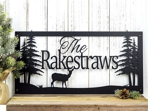 Custom Metal Signs For Home Decor Buy A Crafted Custom Name Sign Metal Sign Personalized Sign Lake Home Decor Cabin