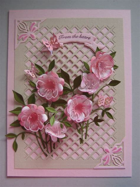 Handmade Cards With Flowers - 280 best images about die cut flower cards on