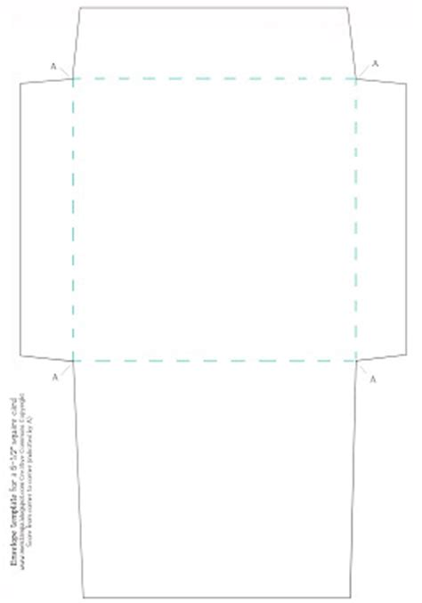 Credit Card Size Envelope Template mel stz new envelope template for a 5 1 2 inch square