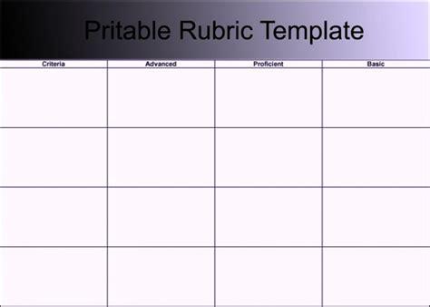 grading rubric template word blank grading project rubric template word doc