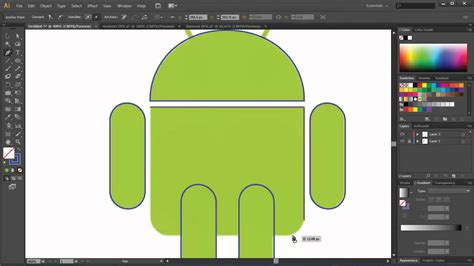 tutorial corel draw logo android how to create android logo with illustrator youtube