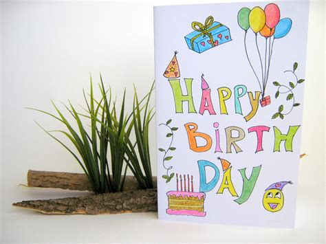 E Gift Cards For Kids - happy birthday handmade gift card for kids by exiartsecocrafts