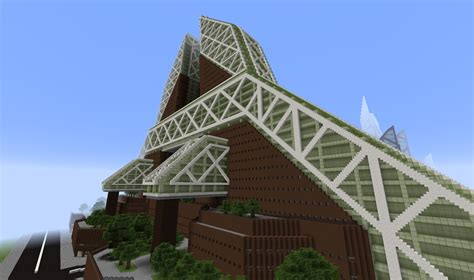 Cladded minecraft modern buildings city xl part 2 youtube