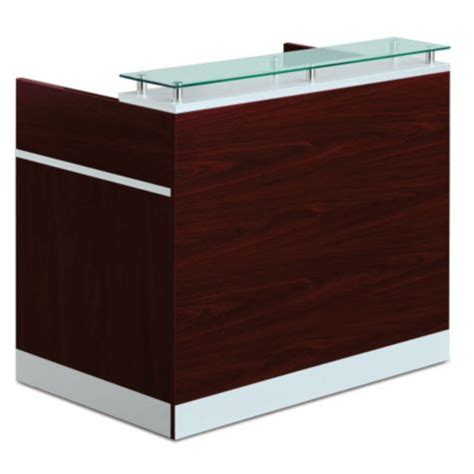 Glass Top Reception Desk Glass Top Reception Desk 48w X 30d 8803861 Officefurniture