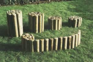 chalet jardin boutique bordure en rouleau en bois
