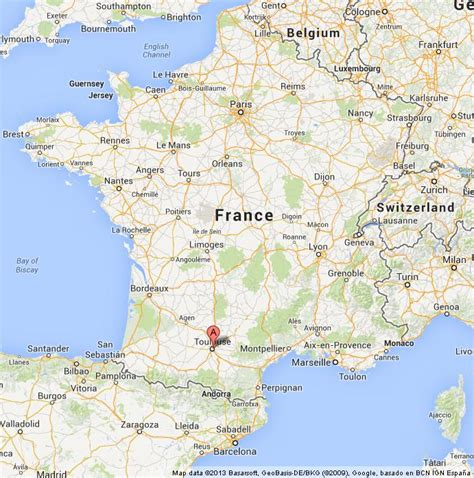 map of toulouse where is toulouse in map