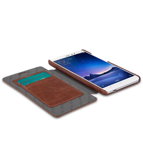 Hardcase Premium Spl Xiaomi Redmi Note 3 Brown xiaomi redmi note 3 mobile cases cellphone pu leather flip wallet book