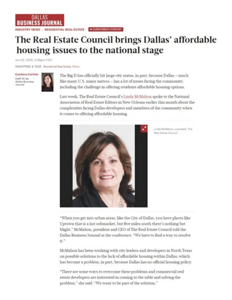 affordable housing real estate the real estate council brings dallas affordable housing issues to n