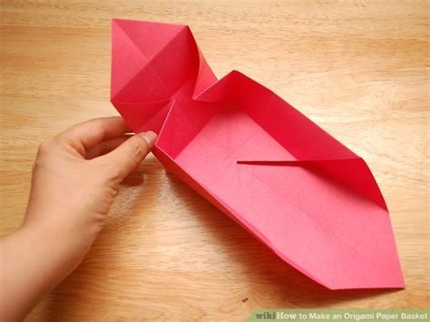 How To Make Paper Basket Origami - how to make an origami paper basket 8 steps with pictures