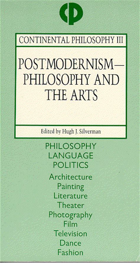 Philosophy And The Arts cp iii postmodernism philosophy and the arts
