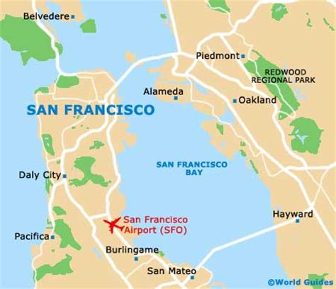 san francisco map distance map of san francisco airport sfo orientation and maps