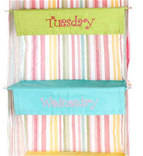day of the week closet organizer days of the week closet organizer stripe in