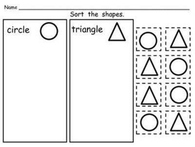 printable shapes for sorting pinterest